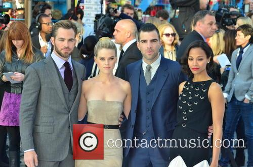 Chris Pine, Alice Eve, Zachary Quinto and Zoe Saldana 4