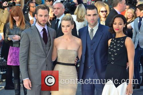 Chris Pine, Alice Eve, Zachary Quinto, Zoe Saldana