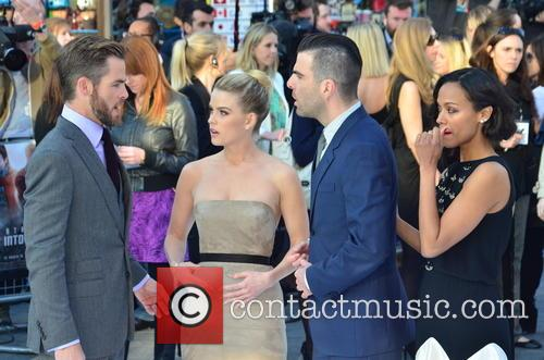 Chris Pine, Alice Eve, Zachary Quinto and Zoe Saldana 6