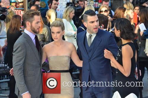 Chris Pine, Alice Eve, Zachary Quinto and Zoe Saldana 7