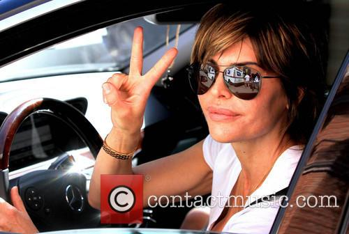 Lisa Rinna takes a drive along Bedford Drive