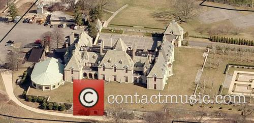 Aerial views of the Oheka Castle on Long...