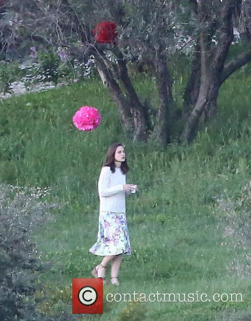 Keira Knightley seen entertaining guests