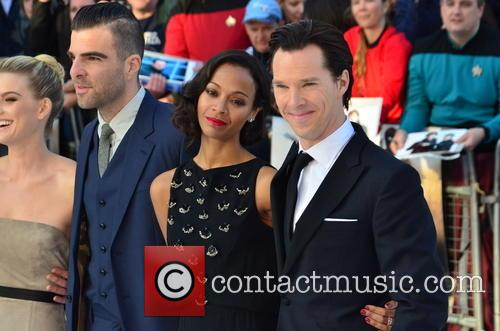 Alice Eve, Zachary Quinto, Zoe Saldana and Benedict Cumberbatch 6