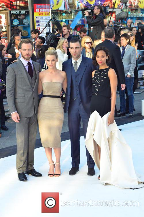 Chris Pine, Alice Eve, Zachary Quinto and Zoe Saldana 4