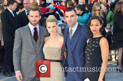 Chris Pine, Alice Eve, Zachary Quinto and Zoe Saldana 5