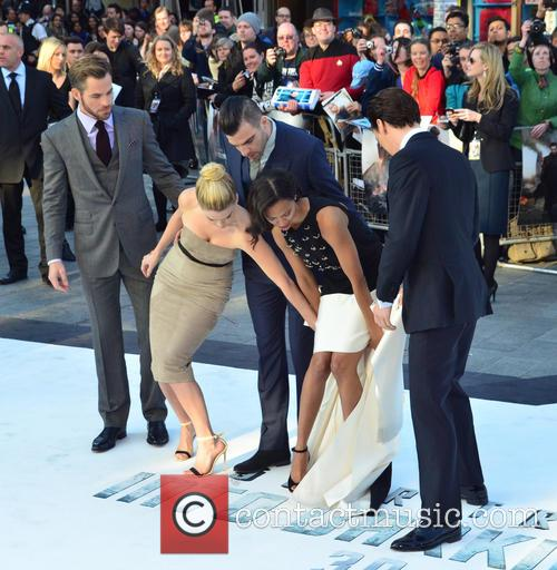 Chris Pine, Alice Eve, Zachary Quinto and Zoe Saldana 1