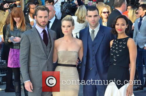 Chris Pine, Alice Eve, Zachary Quinto and Zoe Saldana 8