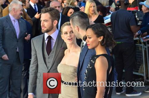 Chris Pine, Alice Eve, Zachary Quinto and Zoe Saldana 10