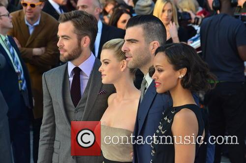 Chris Pine, Alice Eve, Zachary Quinto and Zoe Saldana 11