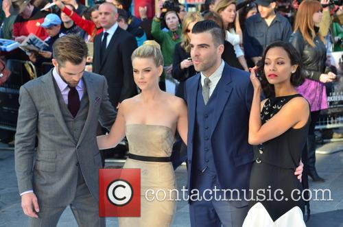Chris Pine, Alice Eve, Zachary Quinto and Zoe Saldana 13