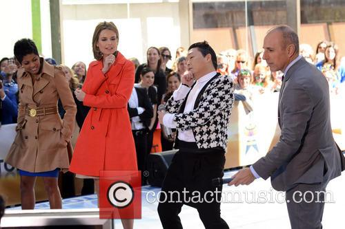 Savanna Guthrie, Psy, Matt Lauer and Tamron Hall 1