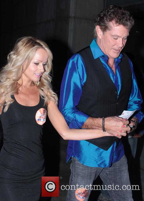 David Hasselhoff and Hayley Roberts 2