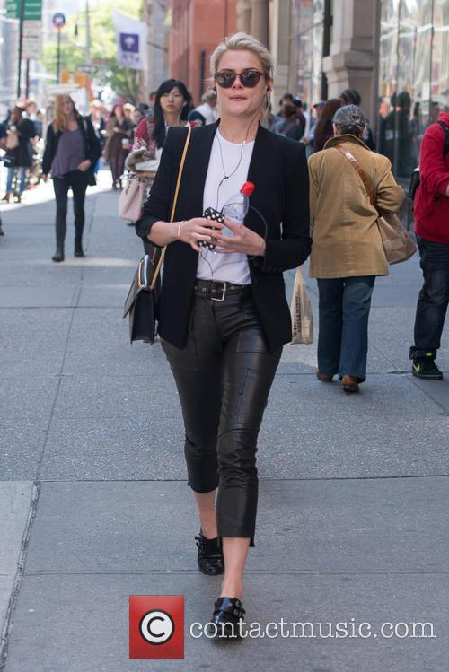 Australian actress and model Rachael Taylor walking in...