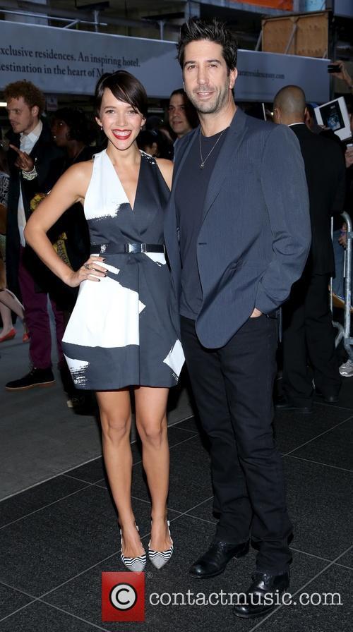 Zoe Buckman and David Schwimmer 1
