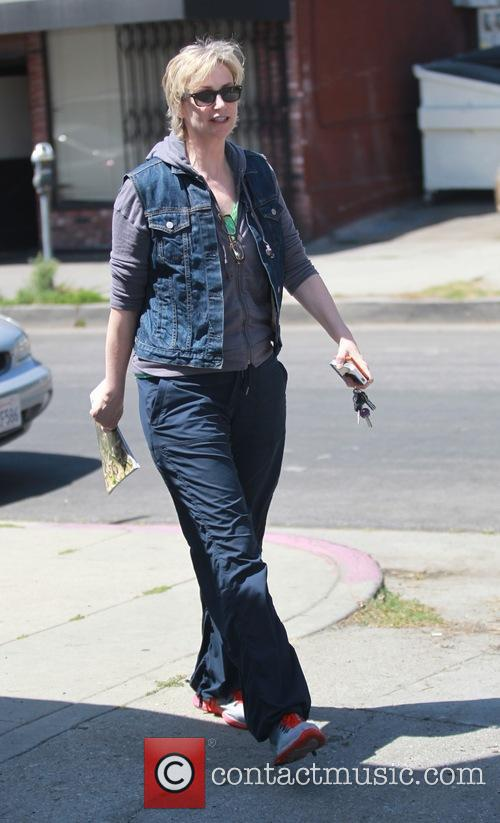 Jane Lynch is seen  shopping in  Hollywood