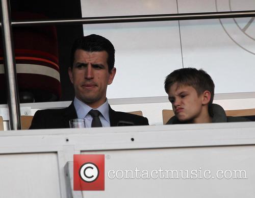 romeo beckham beckhams family at football 3646501