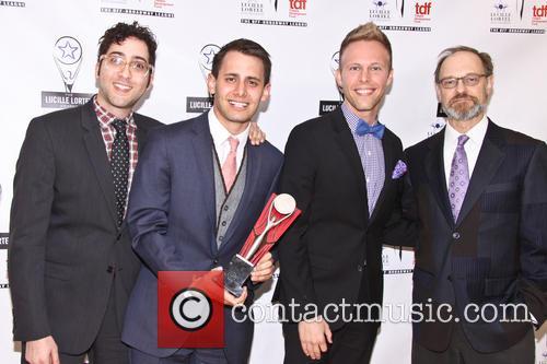 Peter Duchan, Benji Pasek, Justin Paul and David Hyde Pierce 2