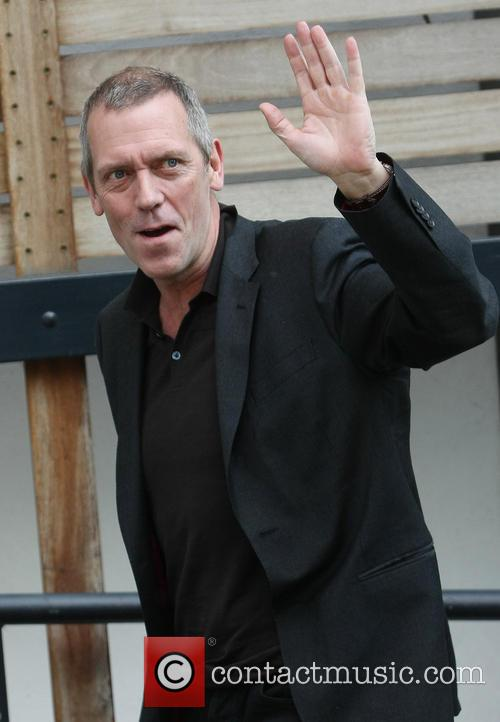 hugh laurie celebrities outside the itv studios 3647709