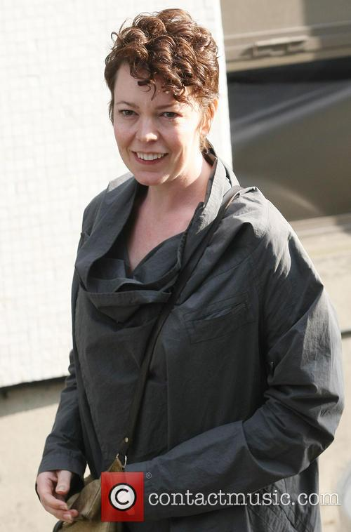olivia colman celebrities outside the itv studios 3643190