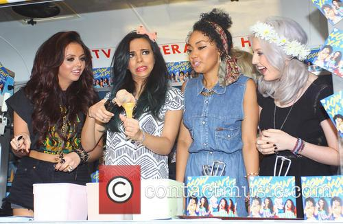 Jesy Nelson, Perrie Edwards, Leigh-Anne Pinnock, Jade Thirlwall, Soho Square