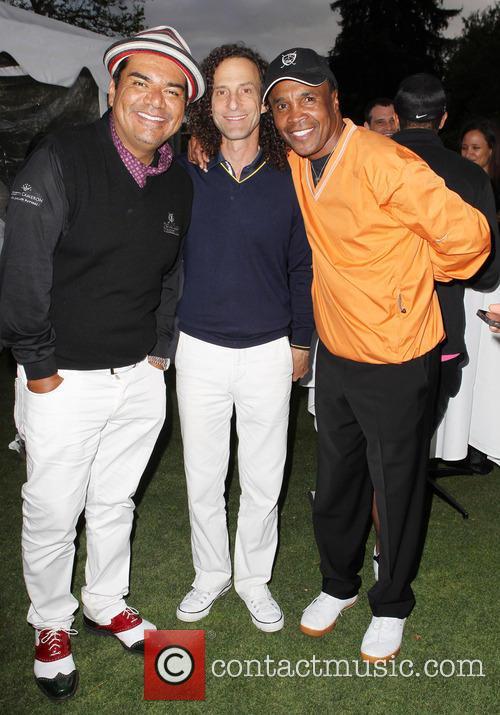George Lopez, Kenny G and Sugar Ray Leonard 1
