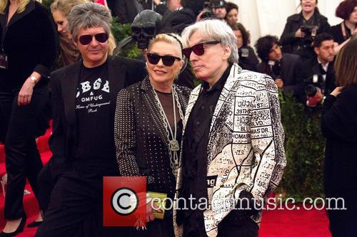 Debbie Harry, Clem Burke (r) and Chris Stein (l) Of