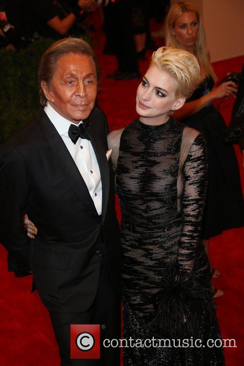 Anne Hathaway and Designer Valentino 2