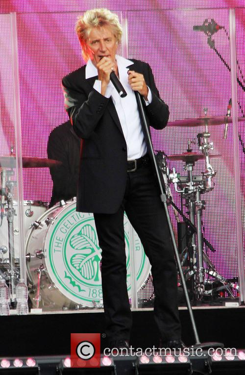 Rod Stewart performs live at Jimmy Kimmel Live!