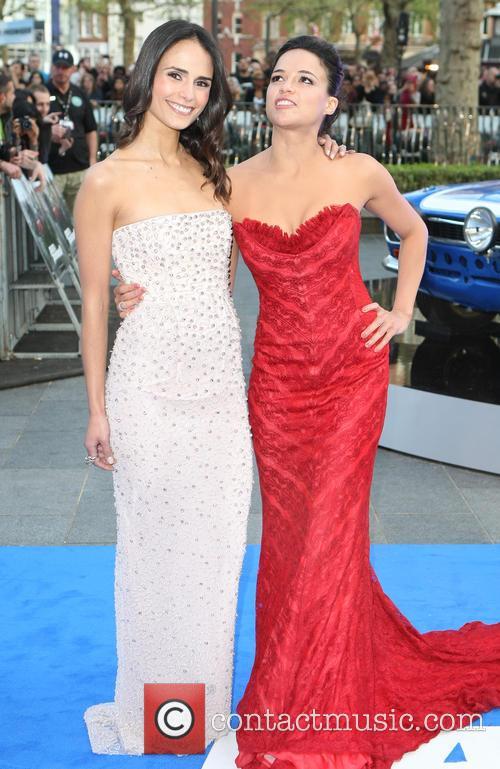 Jordana Brewster and Michelle Rodriquez