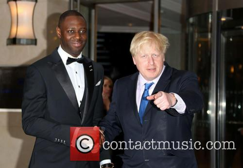 Ledley King and Boris Johnson 2