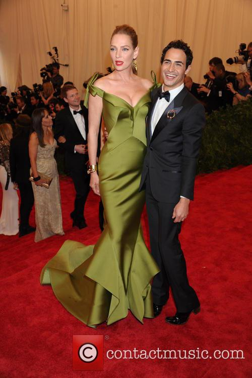 Uma Thurman and Zac Posen 3