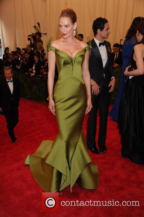 Uma Thurman and Zac Posen 4