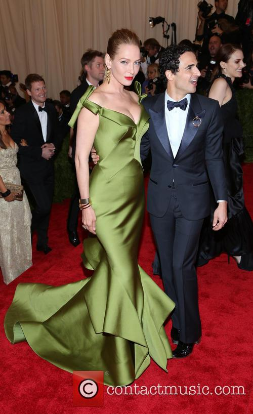 Uma Thurman and Zac Posen 1