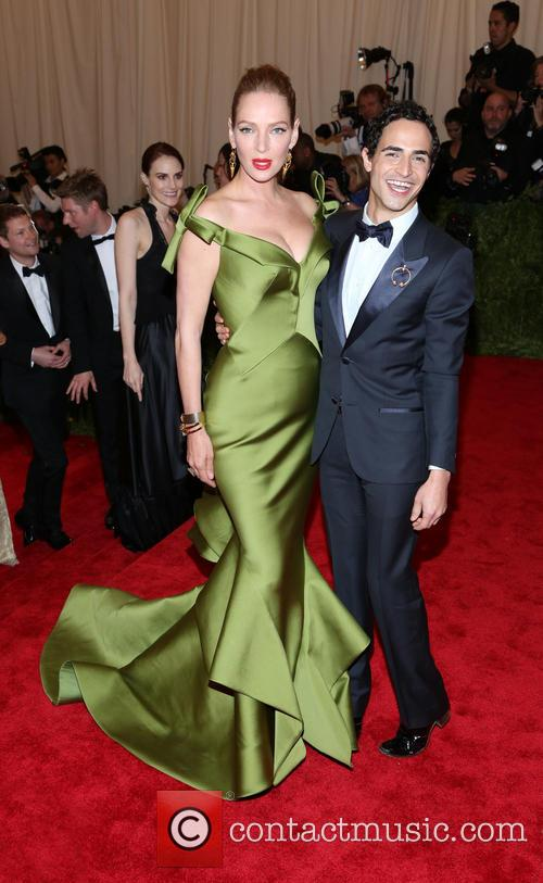 Uma Thurman and Zac Posen 2