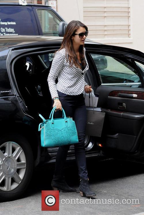 nina dobrev celebrities arriving at their manhattan 3648115