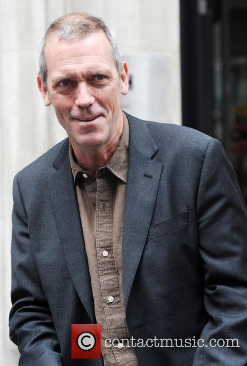 Hugh Laurie outside the BBC Radio 2 studios