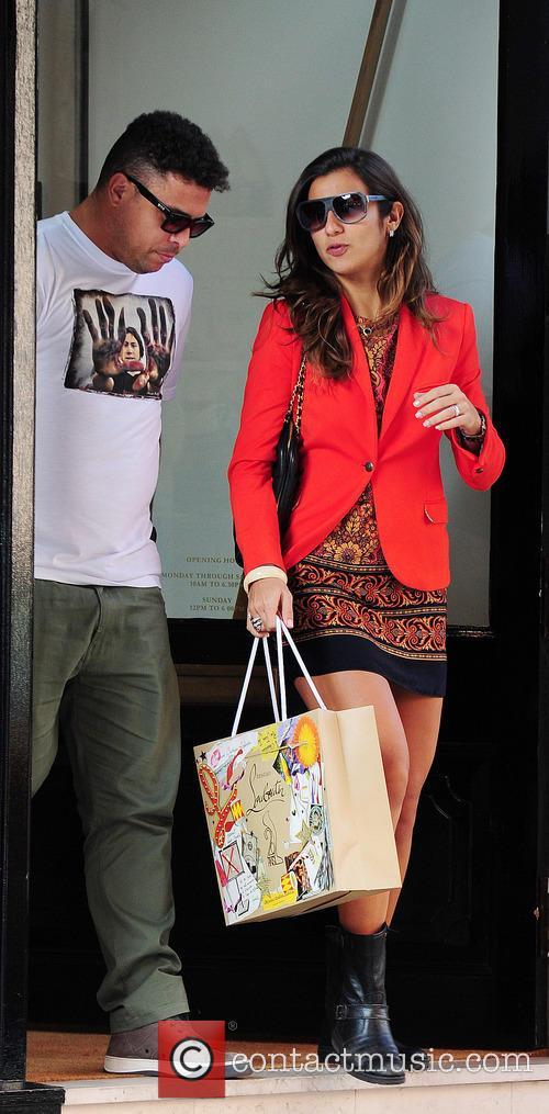 Ronaldo seen with a female companion shopping