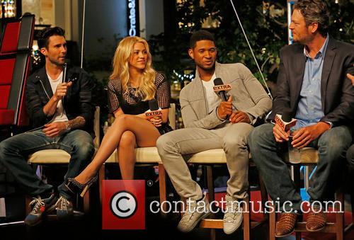 Adam Levine, Shakira, Usher and Blake Shelton 10