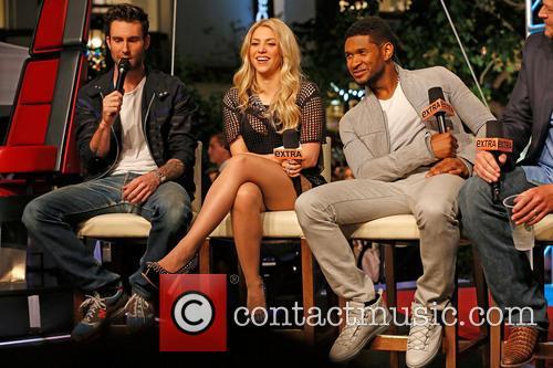 Adam Levine, Shakira, Usher and Blake Shelton 13