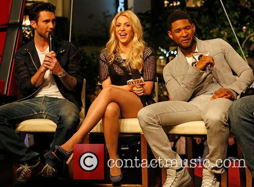 Adam Levine, Shakira and Usher 5