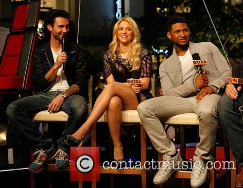 Adam Levine, Shakira, Usher, The Grove