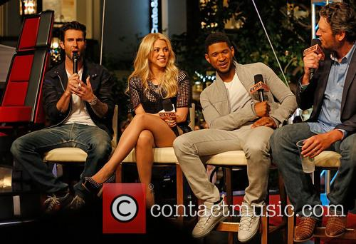 Adam Levine, Shakira, Usher and Blake Shelton 2
