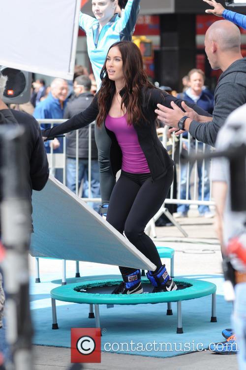 Megan Fox on the set of 'Teenage Mutant Ninja Turtles'