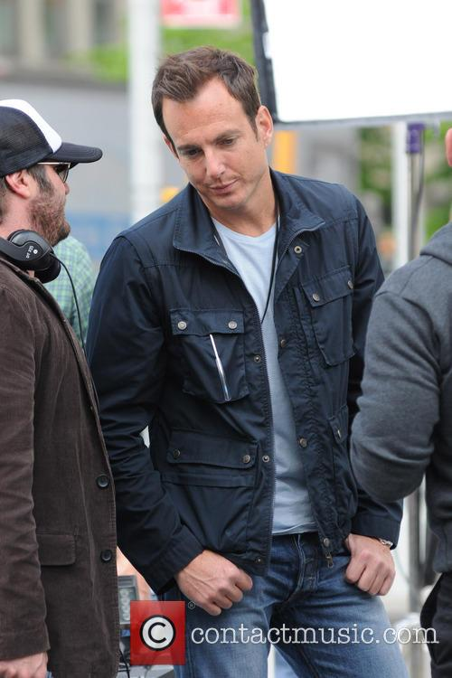 Will Arnett on the set of 'Teenage Mutant Ninja Turtles'