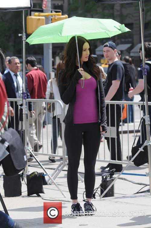 Megan Fox retreats into shade