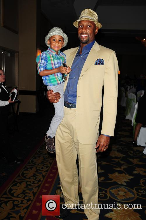 Alonzo Mourning and Alijah Mourning