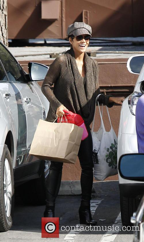 Halle Berry at daughter's school