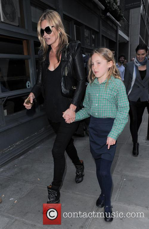 Kate Moss and daughter Lila Grace Moss at...