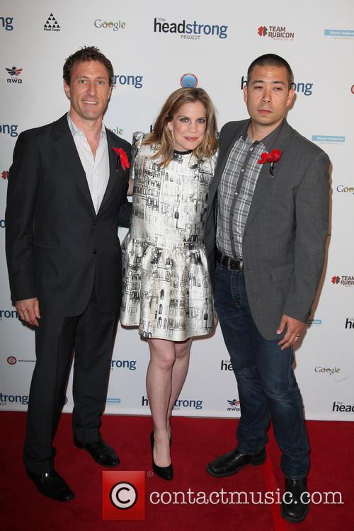 Zach Iscol, Anna Chlumsky and Shaun So (husband) 3